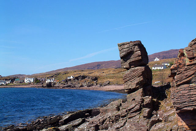 Rock Pillar near Camusterrach, Applecross